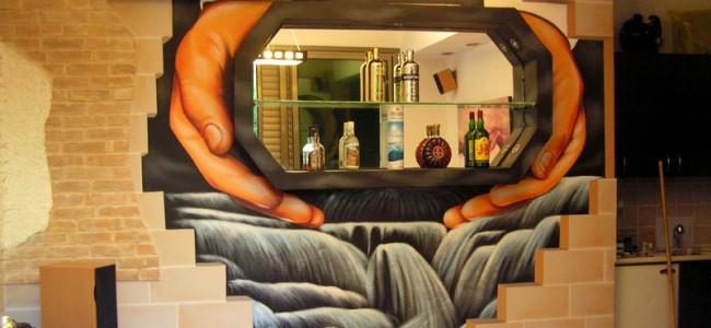ציורי קיר בסלון